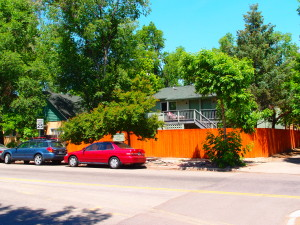 2437 Spruce View from Street: Large Privacy Fence and Plenty of Street Parking